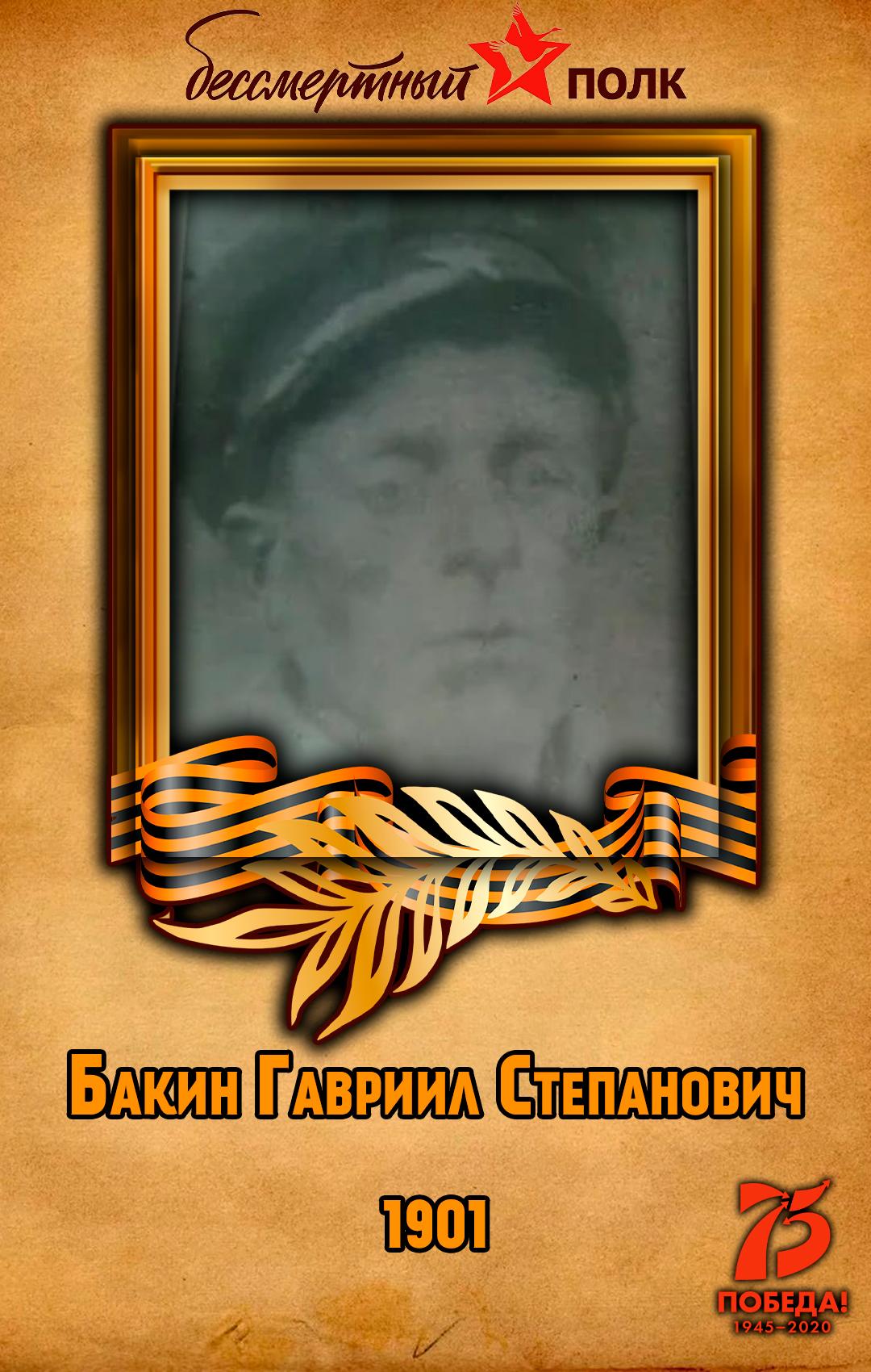 Бакин-Гавриил-Степанович
