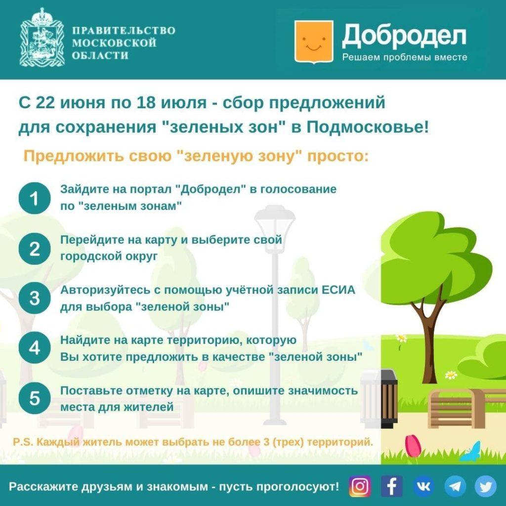 Сохраним «зелёные зоны» Подмосковья вместе!