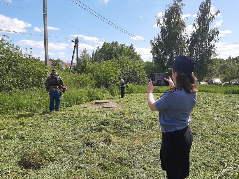 По предписаниям Госадмтехнадзора в г.о. Лотошино окошено более 40 территорий