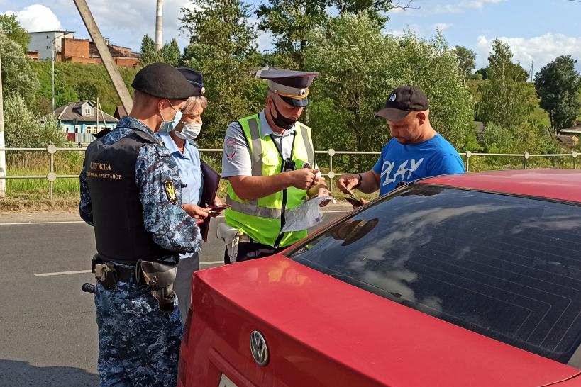 Рейд по выявлению должников прошел в Волоколамске