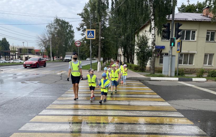Госавтоинспекторы в Шаховской провели занятие с дошкольниками по Правилам дорожного движения