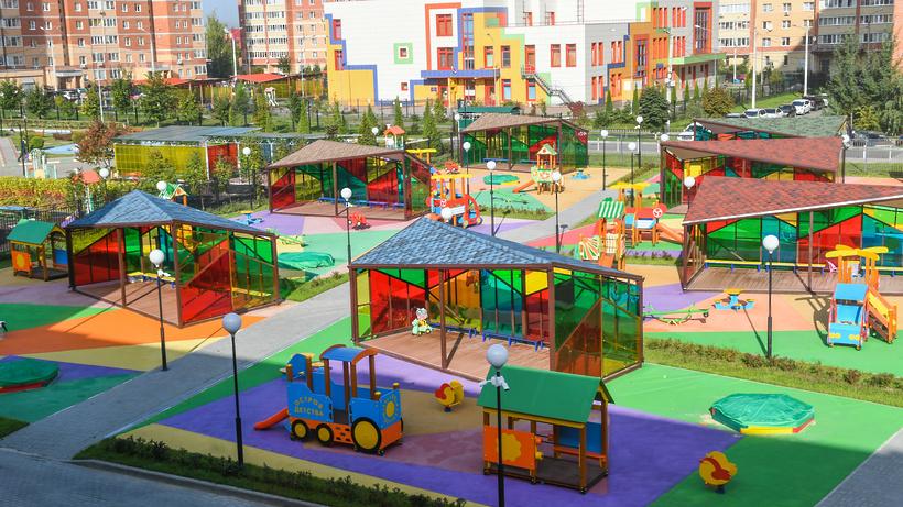 В Подмосковье установили 125 детских площадок по программе губернатора