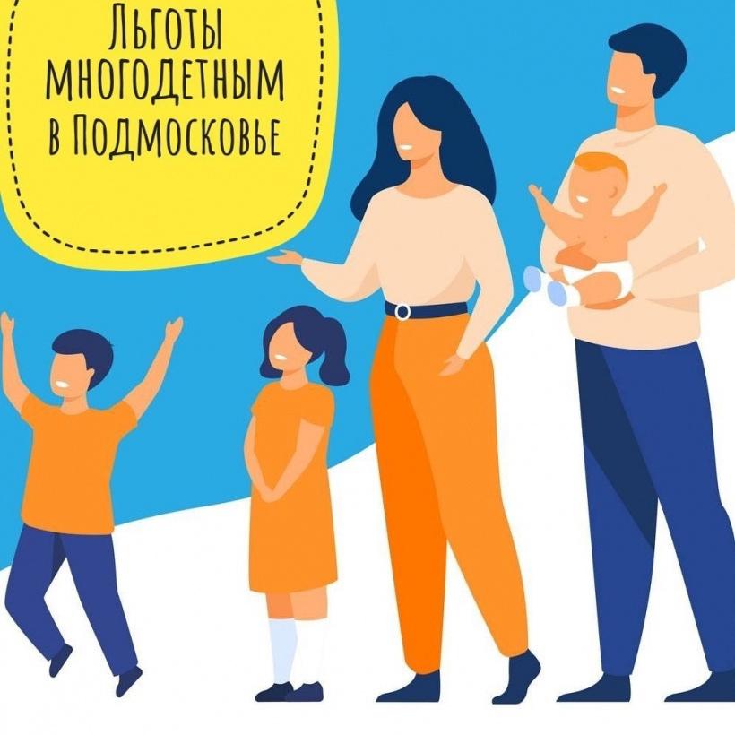 Волоколамцам на заметку: О льготах для многодетных семей в Подмосковье
