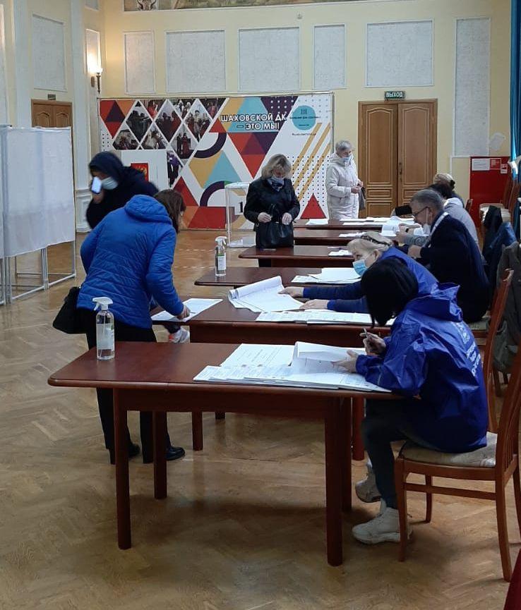 В Шаховском Доме культуры заработал избирательный участок