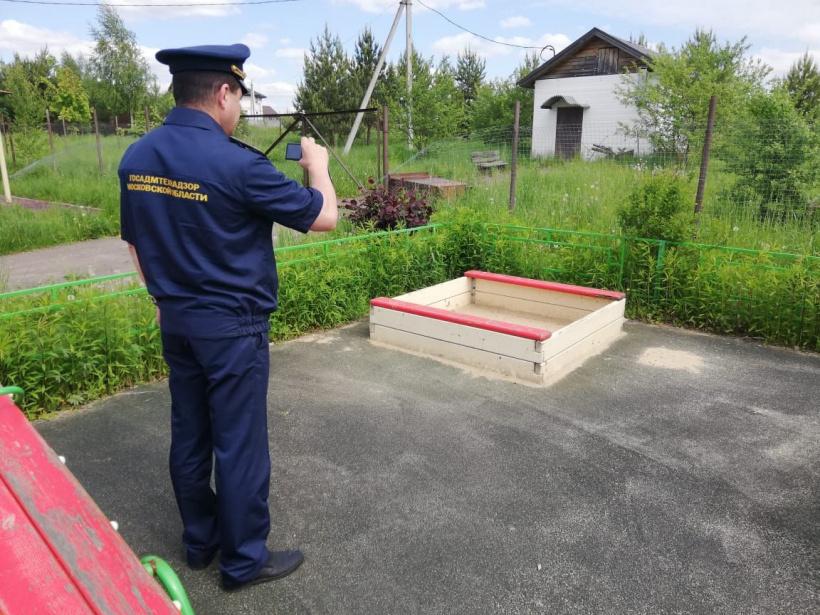 Госадмтехнадзор проверил 58 детских игровых площадок в горокруге Шаховская
