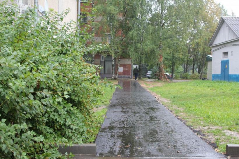 В горокруге Шаховская завершаются работы по строительству тротуаров