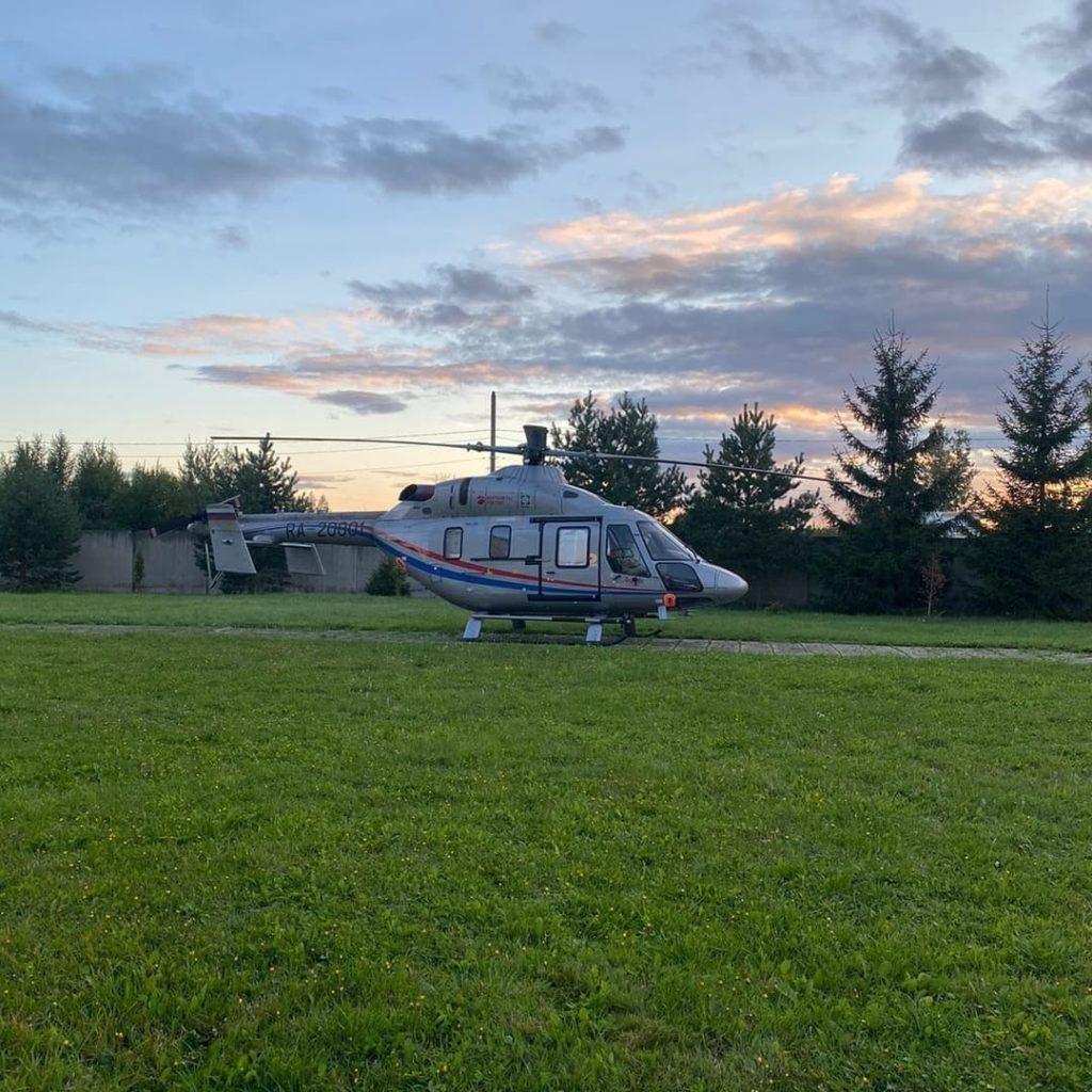 Медицинский вертолёт экстренно вылетел в Волоколамск для эвакуации ребёнка