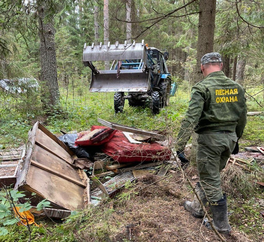 12 кубометров бытового и строительного мусора было вывезено Волоколамскими лесничими