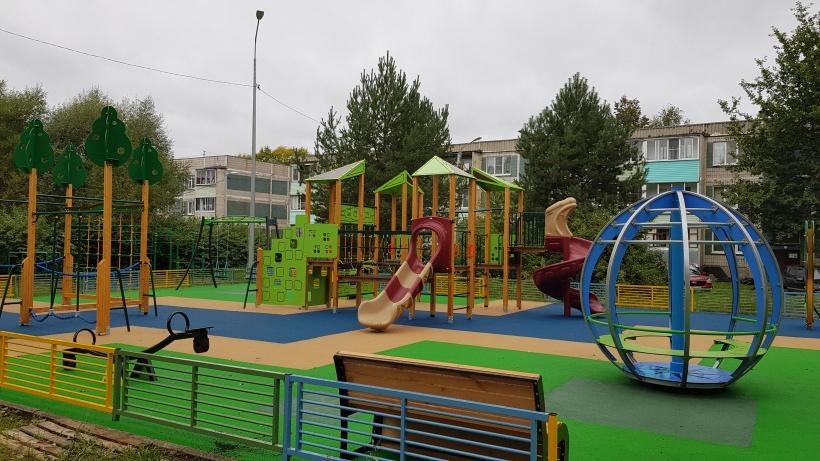 Новые детские площадки в Волоколамском округе - в шаговой доступности