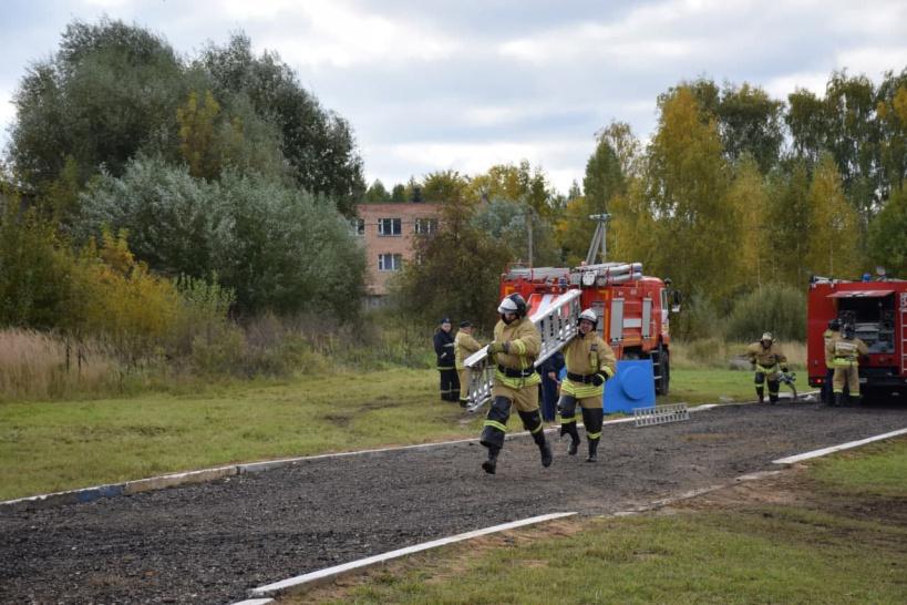 Конкурс среди пожарных команд Московской области прошел в городском округе Лотошино